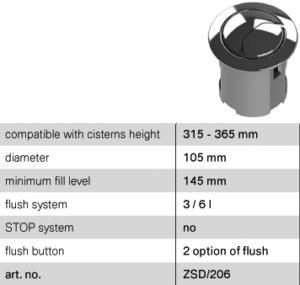 Low-Hight Dual-Flush Valve