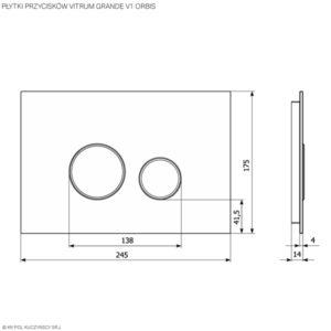 Płytki przycisków Vitrum Grande V1 Orbis