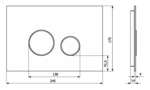 Płytka przycisków Vitrum Grande V1 Orbis