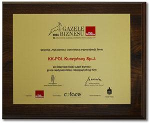 Gazele Biznesu dla firmy KK-POL