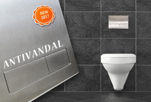 Antivandal flush plate