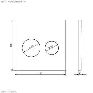 Płytki przycisków P01V1